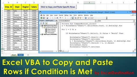 vba to copy and paste rows if condition is met excel vba