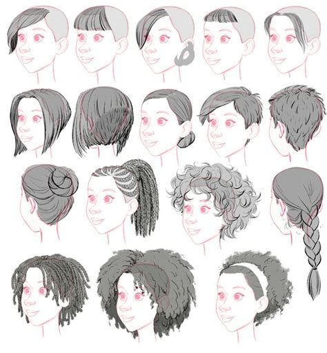 hair reference ideas  pinterest drawing hair