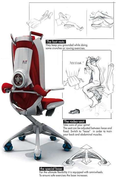 fitness work office chair concept lets you get a workout