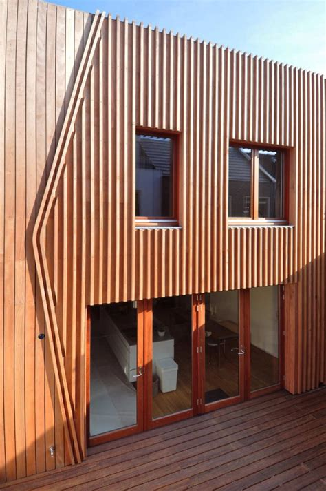 corten steel  wood facade house leyden netherlands