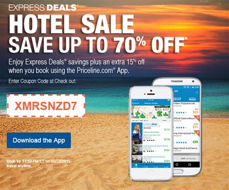 priceline express deal coupon march 2018
