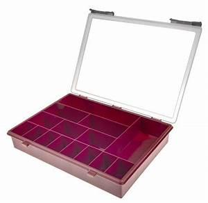 Boîte à Thé Compartimentée : 108478 boite compartiment e 15 compartiments plastique rouge 57mm x 338mm x 260mm raaco ~ Teatrodelosmanantiales.com Idées de Décoration