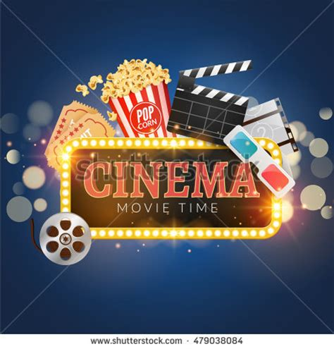 theatre company website templates cinema movie vector poster design template stock vector