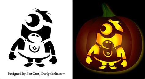 halloween minion pumpkin carving stencils patterns