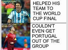 The difference in Cristiano Ronaldo vs Leo Messi in