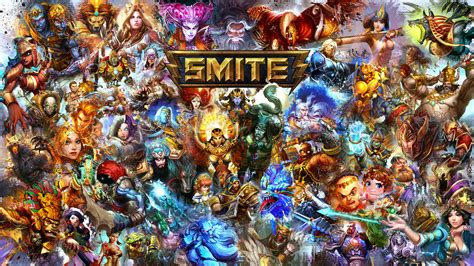 I made a new Smite Wallpaper with all gods! : Smite