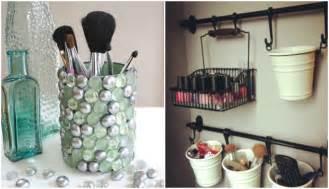 rangement maquillage a faire soi meme rangement maquillage pratique et joli en 15 id 233 es originales