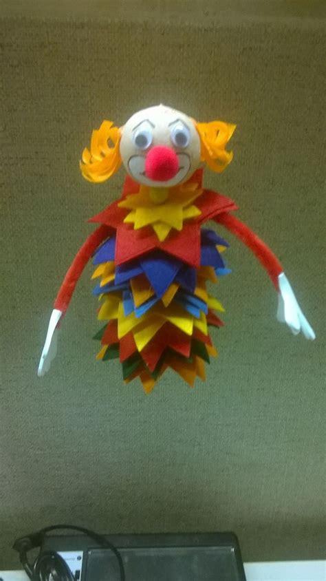 diy karnevals clowns aus filz hobbymade bastelbedarf