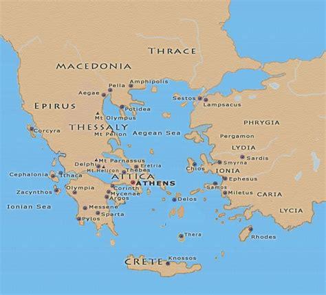 ancient greece maps   ancient world pinterest