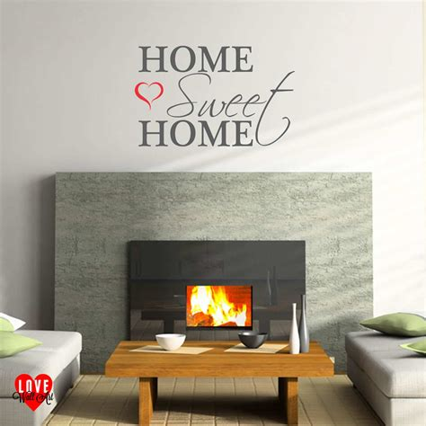 home wall decor stickers quot home sweet home quot quote wall sticker wall decal