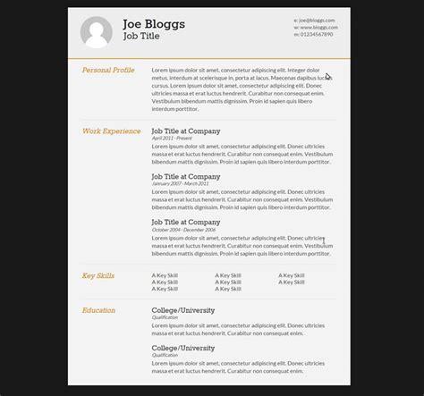 professional html css cvresume templates