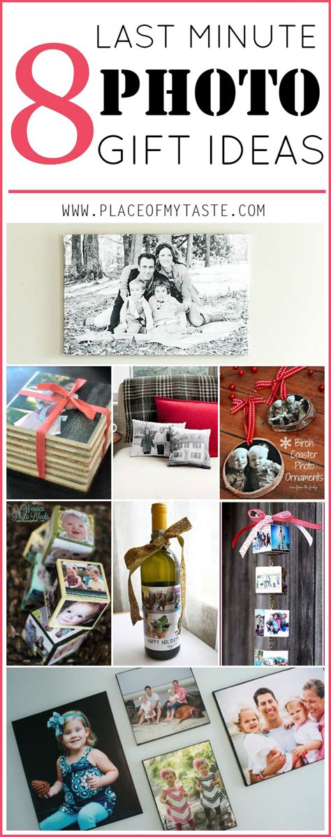 minute photo gift ideas