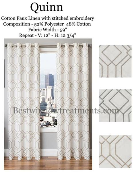 quinn linen curtains modern or vintage deco style