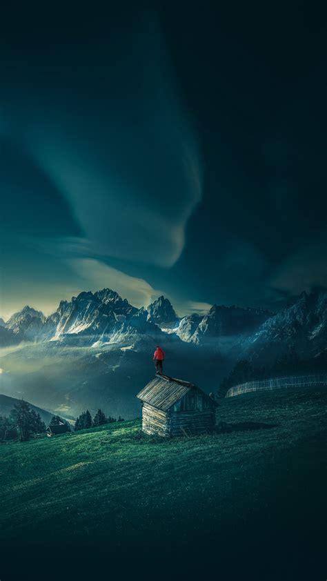 wallpaper  man mountains structure