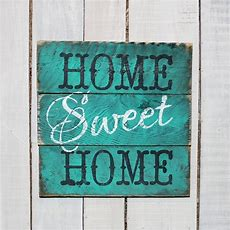 Country Pallet Sign Home Sweet Home Hand Painted Reclaimed