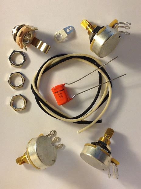 Wiring Harness Kit For Bass Cts Knurled Pots