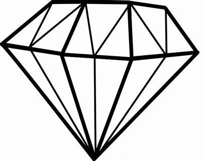 Diamond Diamant Clip Clipart Vector Clker