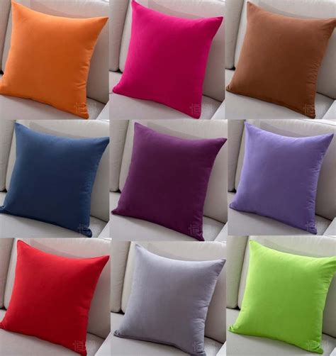 Buy Solid Color Sofa Cushion Covers Hot