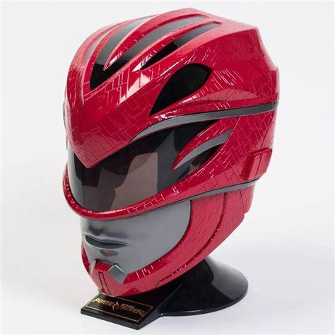 bandai power rangers  legacy red ranger helmet red