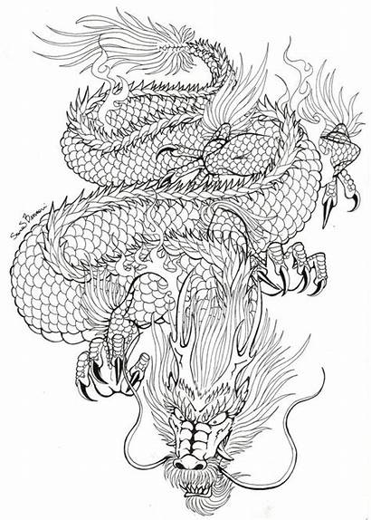 Dragon Japanese Outline Tattoo Designs Tattoos