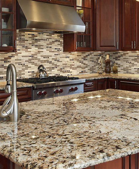 pictures of granite kitchen countertops and backsplashes beige brown travertine subway glass backsplash 9719