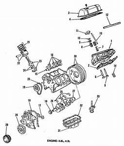 1988 Gmc R2500 Engine Crankshaft Pulley  Bearings  Oil
