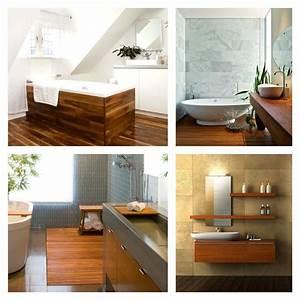 Idée Meuble Salle De Bain : id e salle de bain teck pour une d co bois durable et jolie ~ Teatrodelosmanantiales.com Idées de Décoration