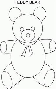 teddy bear coloring pages templates az coloring pages With template for a teddy bear