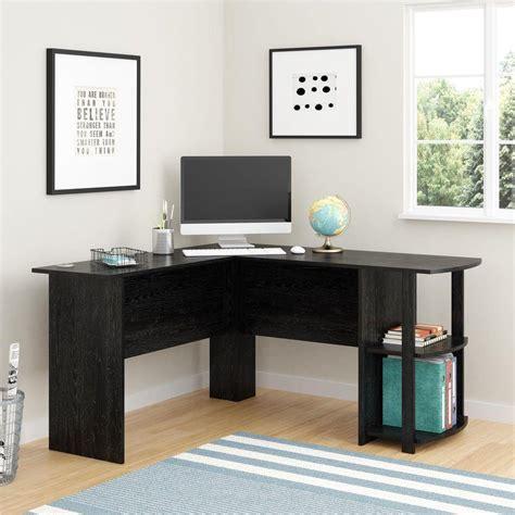 black desk with shelves ameriwood corner desk with 2 shelves in black ebony ash