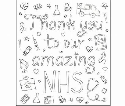 Colouring Sheets Adults Help Children Nhs Thank