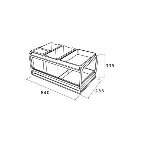 rangement poubelle cuisine poubelle de cuisine coulissante 3 bacs 45l