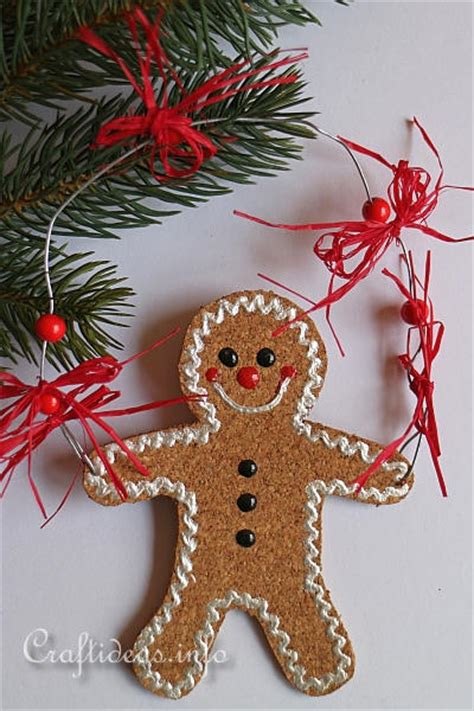 christmas craft project gingerbread man ornament