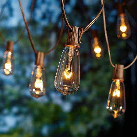 Walmart Patio Lights by Better Homes And Gardens Outdoor Glass Edison String