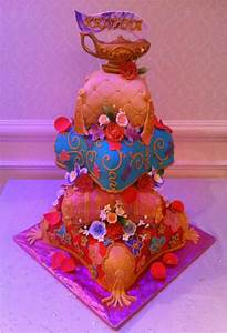 ARABIAN NIGHTS THEMED QUINCEANERA CAKE - Four tier Arabian ...