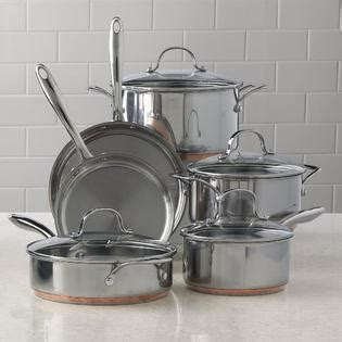 kenmore  pc stainless steel  copper band cookware set home kitchen cookware