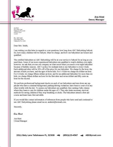 letter header format   write  letter  business