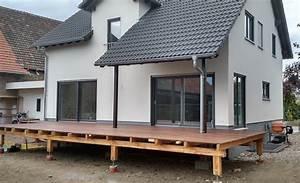 terrasse planung umsetzung abenteuer hausbau With garten planen mit betonsanierung balkon kosten