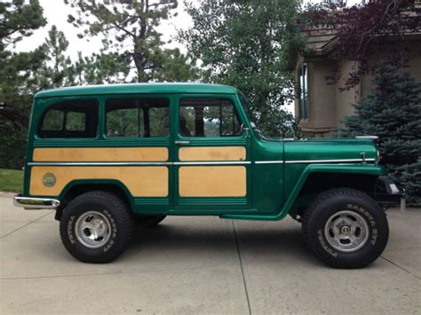 jeep willys wagon for sale 1955 jeep willys station wagon 4wd restored and customized