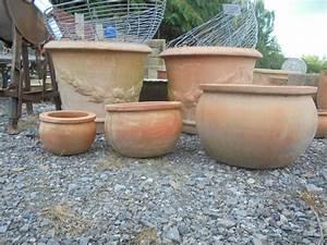 Plain, Round, Terracotta, Pots
