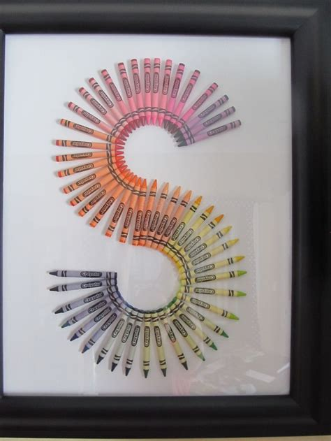 crayon letters crafts pinterest  love  gifts  baby rooms