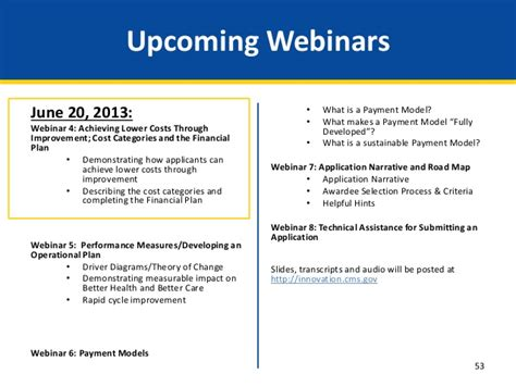 Webinar Health Care Innovation Awards Round Two  Overview Of Catego…