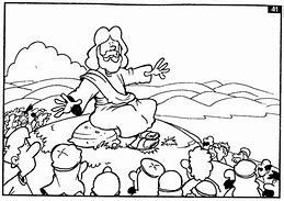 HD Wallpapers Coloring Pages Jesus Preaching