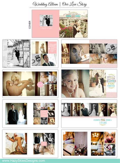 wedding book template  photographers  love story