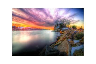 Hdr Sunset Wallpapers Nature 4k Background Riverside