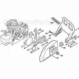 Stihl Ms 250 Chainsaw  Ms250 C  Parts Diagram  Chain Brake