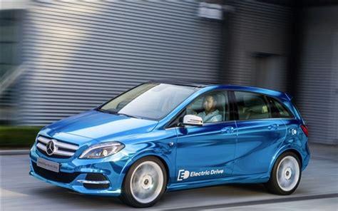 wallpaper mercedes benz  class electric drive blue car