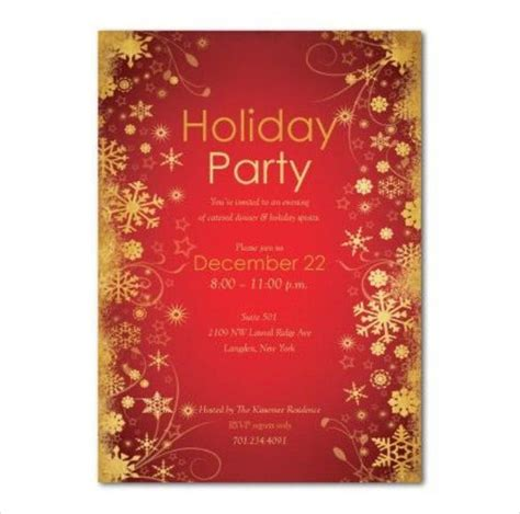 holiday invitation template  psd vector eps ai
