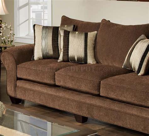 Chocolate Fabric Casual Modern Loveseat Sofa Set Woptions