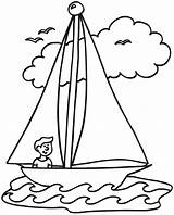Coloring Preschool Summer Pages Preschoolers Sailboat Comments sketch template