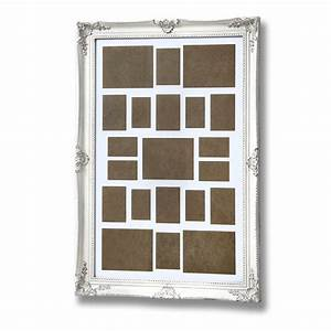 Large, Antique White, Ornate Frame for Multiple Photos ...